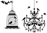 Fototapeta żyrandol - kryształ - Ptak