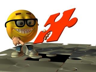 Smilie und das Puzzleteil