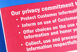 Details about the privacy commitment to the customers poster