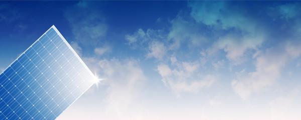 Solar panel mit Himmel