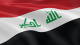 Iraqi flag in the wind