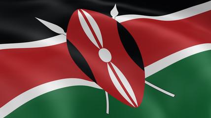 Kenyan flag in the wind