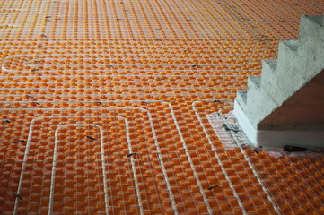Underfloor heating with stairs