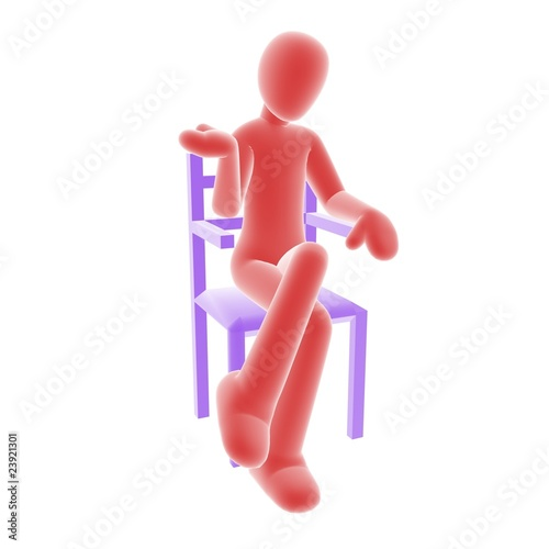 red person sitting A