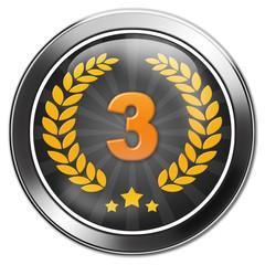urkunde, button 3. platz, bronzemedaille