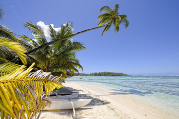 Dream beach in Papetoai, Moorea, French Polynesia