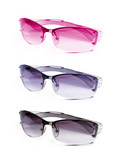 Fototapety collection sunglasses on white