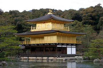 Kinkakuji, Golden Pavilion temple in Kyoto