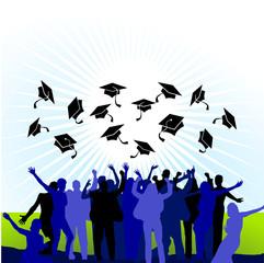 College Abschlussfeier