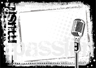 microphone horizontal background