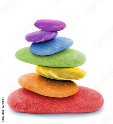 zen regenbogen kieselsteine