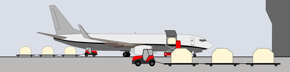 Loading cargo aircraft