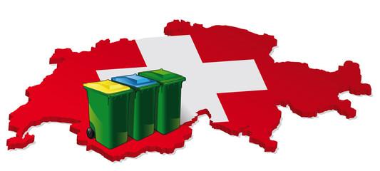 tri sélectif des déchets en suisse