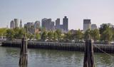 Boston skyline scenic poster