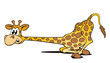 Giraffe liegend erstaunt