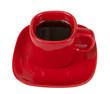 Tasse Kaffee mit exaktem Beschneidungspfad