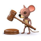 3d Mouse with gavel