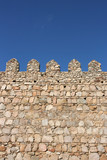 Fortified wall in Avila, Spain