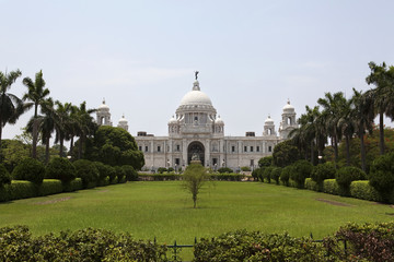 Front shot of Victoria Memorial - Kolkata