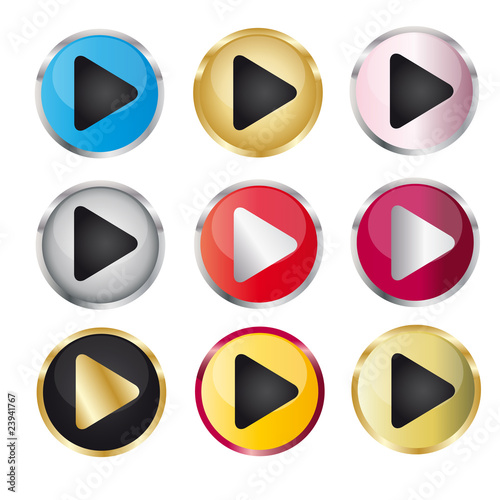Play Button Set