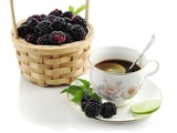 tea and blackberry
