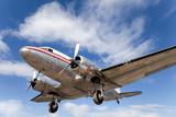 Restored vintage airplane DC-3 poster