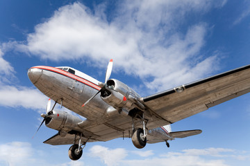 Restored vintage airplane DC-3