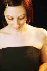 Woman With Strapless Dress