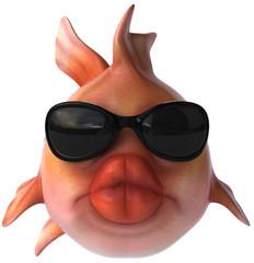 Poisson et lunettes de soleil
