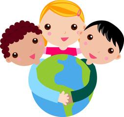 Kids and Globe