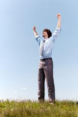 Energetic businessman