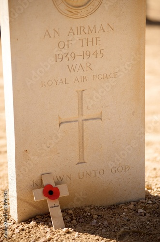 Commonwealth Cemetery in El Alamein, Egypt