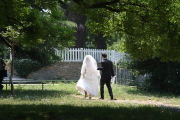 bridegroom in the park