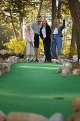 Family Goes Mini Golfing