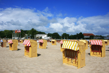 Strandkörbe in Travemünde
