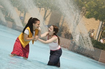 Girls Have A Water Fight