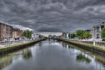 A View Down the River Liffey