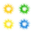 Set of sunburst vectors