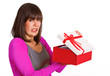 Frau mit schlechtem Geschenk