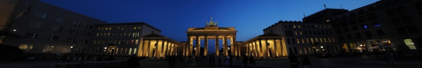 Brandenburger Tor, Nachtaufnahme, Berlin, Deutschland