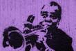 Quadro Trumpeter graffiti