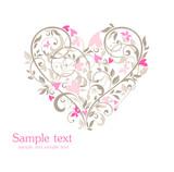 card Beautiful cu inima