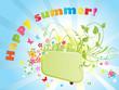 Summer colorful frame