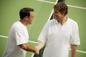 Handshake Before A Tennis Game