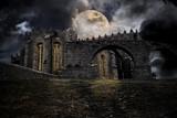 Fototapety Medieval halloween scenery