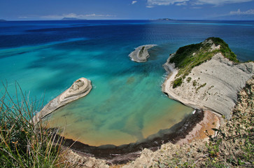 cape drastis on corfu island, greece
