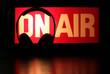 Leinwanddruck Bild - Headphones Podcast On-Air