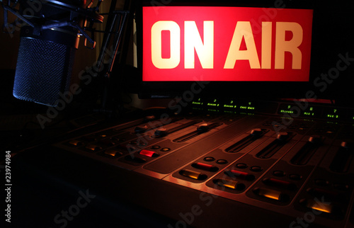 canvas print picture On-Air Radio Panel