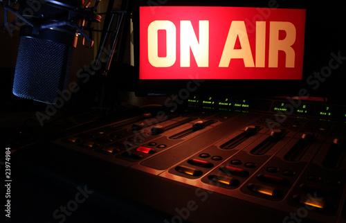Leinwandbild Motiv On-Air Radio Panel