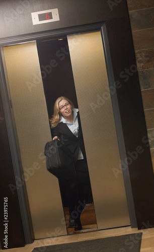 Late For Work-Getting Off Elevator